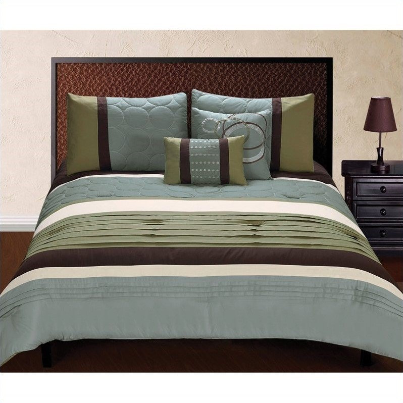 Hallmart Collectibles Jackson 5 Piece Comforter Set in Multicolor