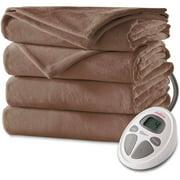 Sunbeam Velvet Plush Heated Electric Blanket, 1 Each