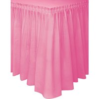 Hot Pink Plastic Party Table Skirt, 14ft