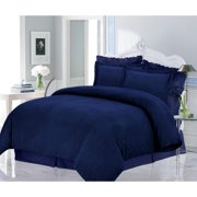 Marwah Corporation Luxury 200-GSM Solid Flannel 3-piece Duvet Cover Set