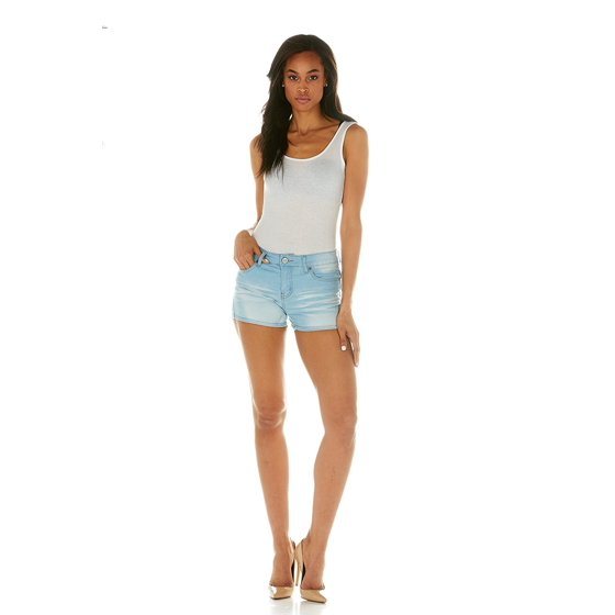 12e5043f5a90 YDX Jeans - Cover Girl Jeans Women's Denim Shorts Mid Rise Blue Washes with  Stretch Size 5\6 Baby Blue (1.5