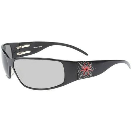 Outlaw Eyewear Tornado Spider DARK TRANSITION Lens Aluminum Motorcycle (Transition Eyewear)