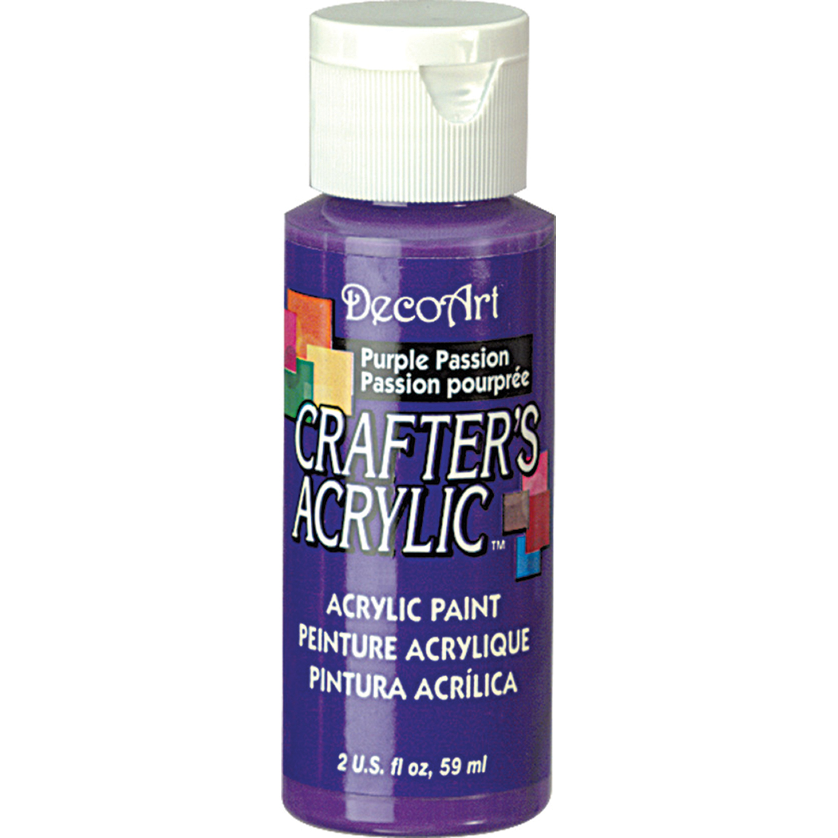 Crafter's Acrylic Gloss All-Purpose Paint 2oz-Purple Passion