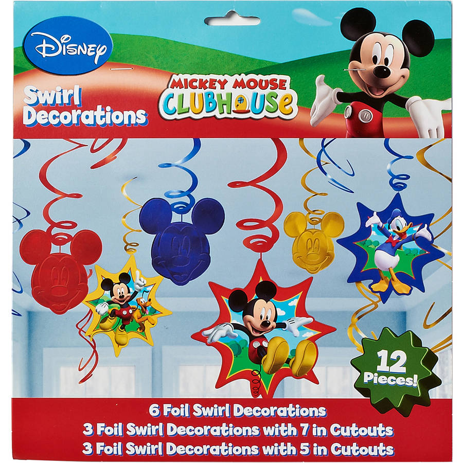 Mickey Mouse Clubhouse Hanging Party Decorations, Party Supplies