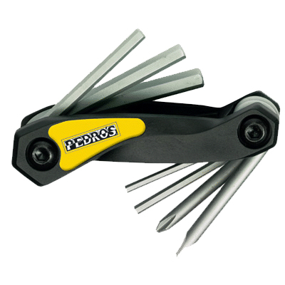 Pedro's Folding Hex Set with Screwdrivers Bike Tool - 6463150