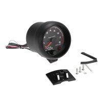 "3.75"" Car Universal Black  Tachometer Gauge White Inter Shift light 0-8000 RPM"