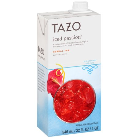 (2 Boxes) Tazo Herbal Tea Concentrate, Iced Passion, 32 Fl