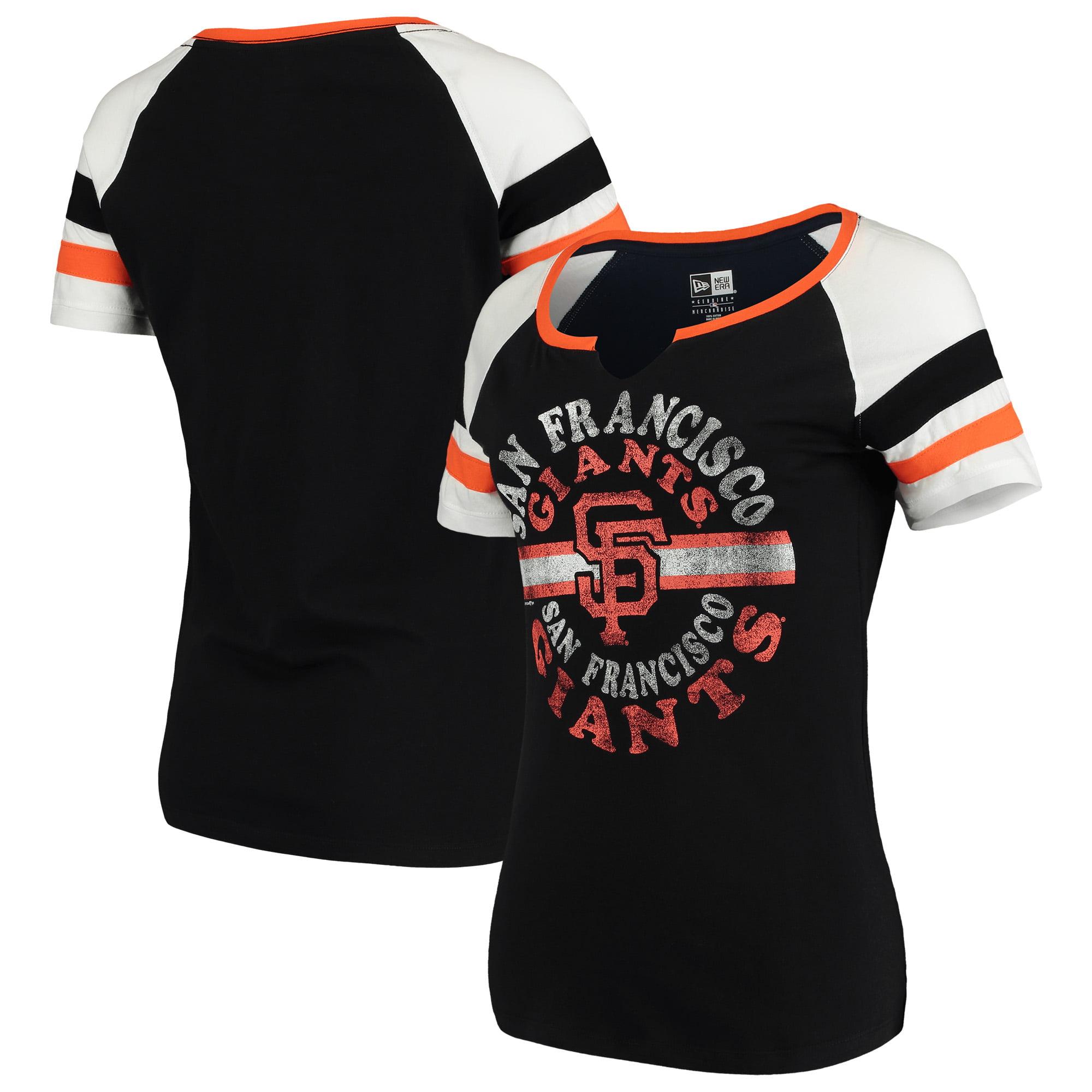 San Francisco Giants New Era Women's Scoop Neck T-Shirt - Black