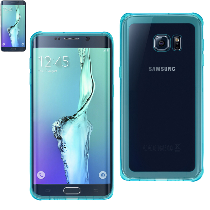Reiko Samsung Galaxy S6 Edge Plus Mirror Effect Case With Air Cushion Protection In Clear Navy