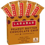 Larabar, Gluten Free Peanut Butter Choc Chip Bars, 8 oz