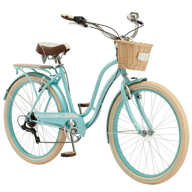 Schwinn Cabo Cruiser Bike 26 Inch Wheels Vintage Style Womens Frame Blue Walmart Com Walmart Com