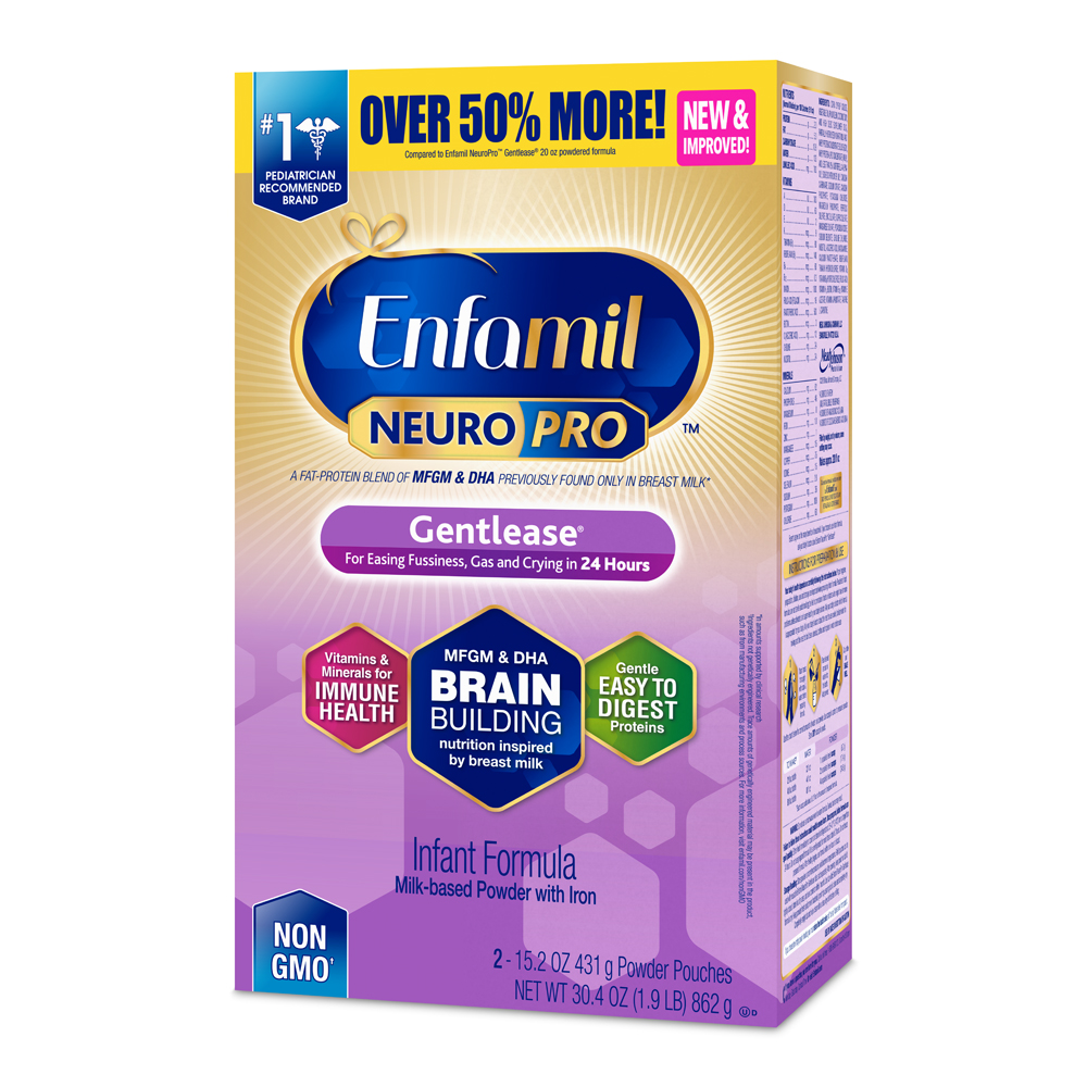 Enfamil Gentlease NeuroPro Baby Formula, Powder, 30.4 oz Refill Box