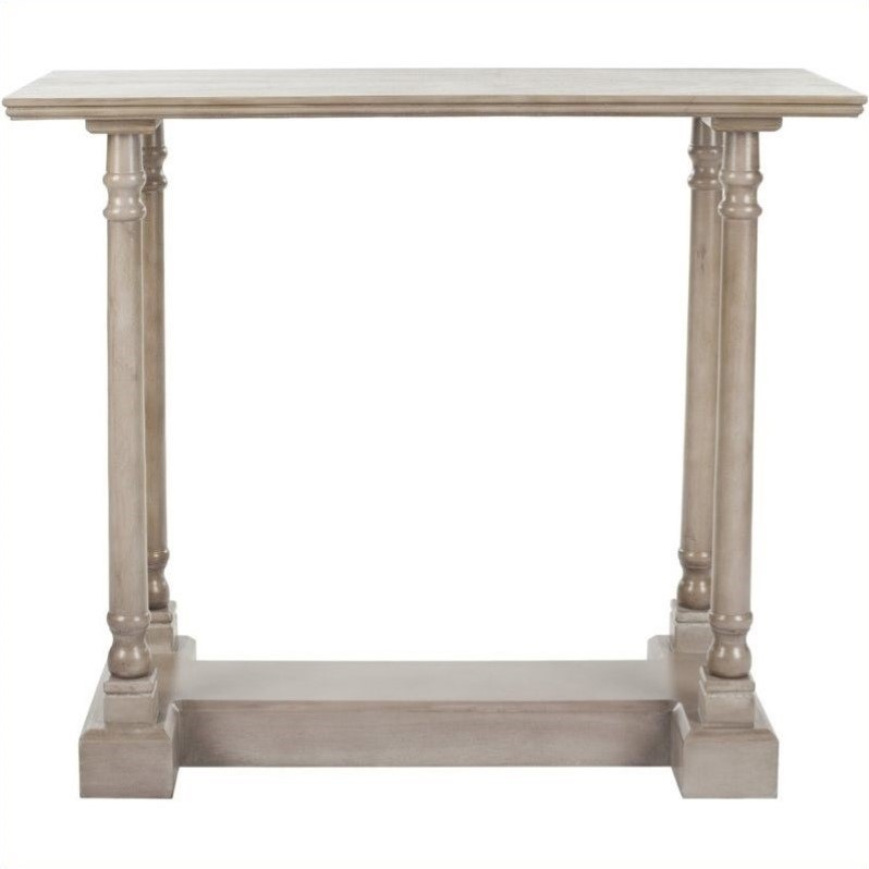 Safavieh Andy Wood Console Table in Grey by Safavieh