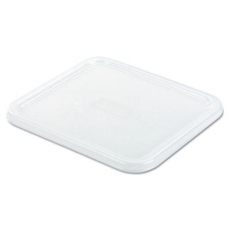 Beige Square Container - Rubbermaid Commercial SpaceSaver Square Container Lids, 8 4/5w x 8 3/4d, White