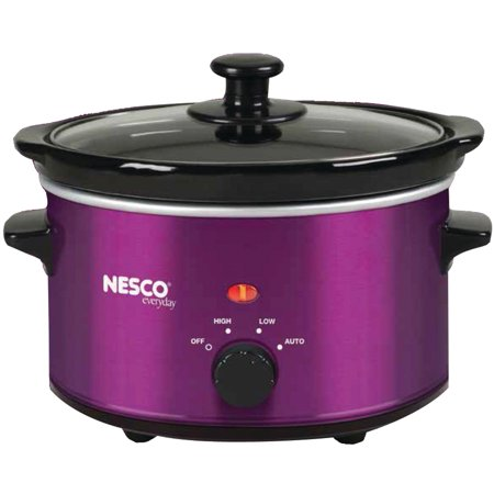 Nesco SC-150V 1.5-Quart Oval Slow Cooker, Metallic Purple