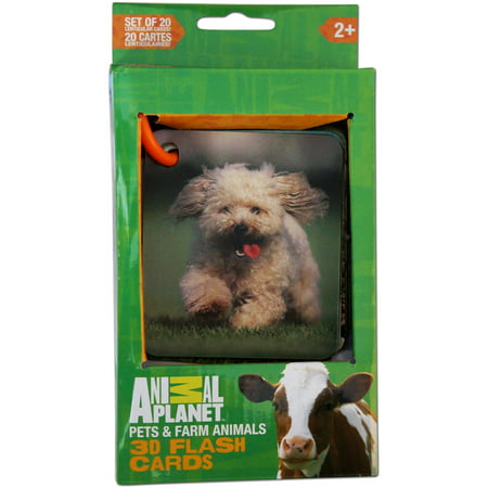 Smart Play Animal Planet 3D Flash Cards, Pets and Farm Animals (3d Planets)
