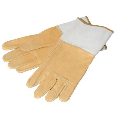 TIG/MIG Welding Gloves, Pigskin, Large, Tan