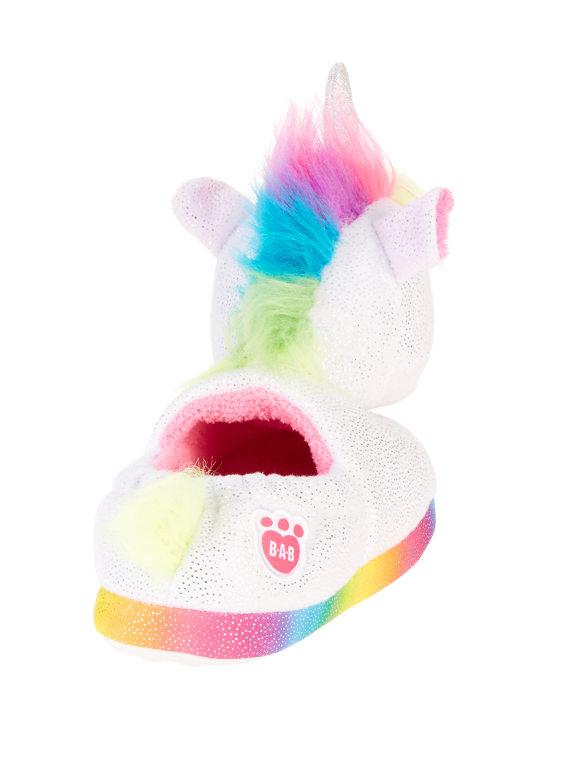 Build A Bear Unicorn Girls Slippers Size Small 10//11 White