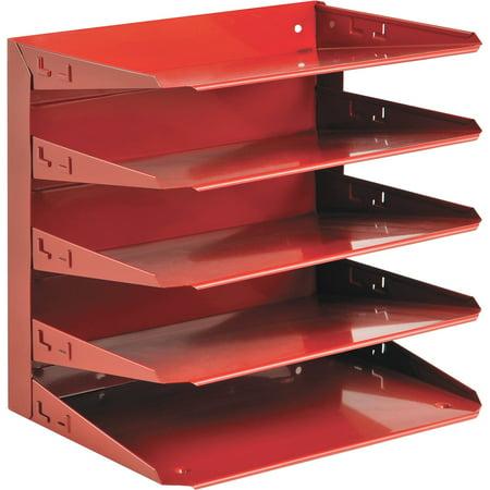 MMF, Soho 5-tier Horizontal Organizer, 1 Each, Red Horizontal Desk Organizer