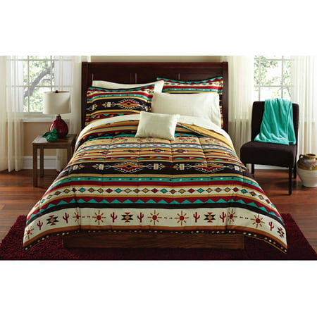 mainstays kokopeli bed in a bag coordinated bedding. Black Bedroom Furniture Sets. Home Design Ideas