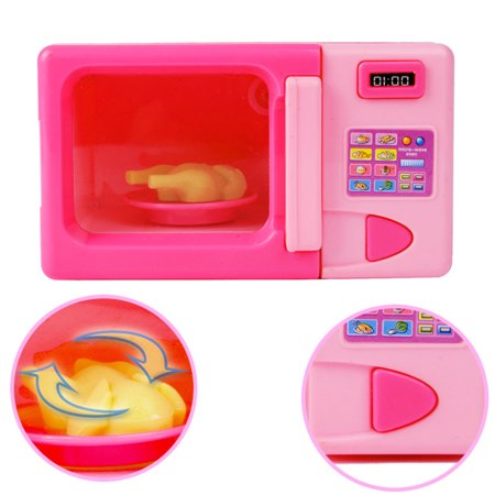 Kids Simulation Kitchen Microwave Oven Toy Kit Play House Game Educational Puzzle Toy Gift