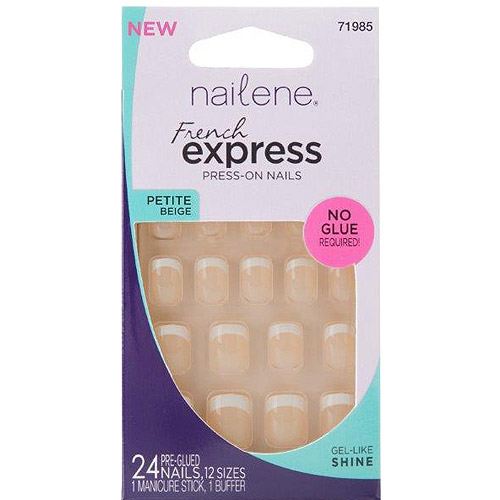 Nailene French Express Petite Beige Press-On Nails, 71985, 24 count