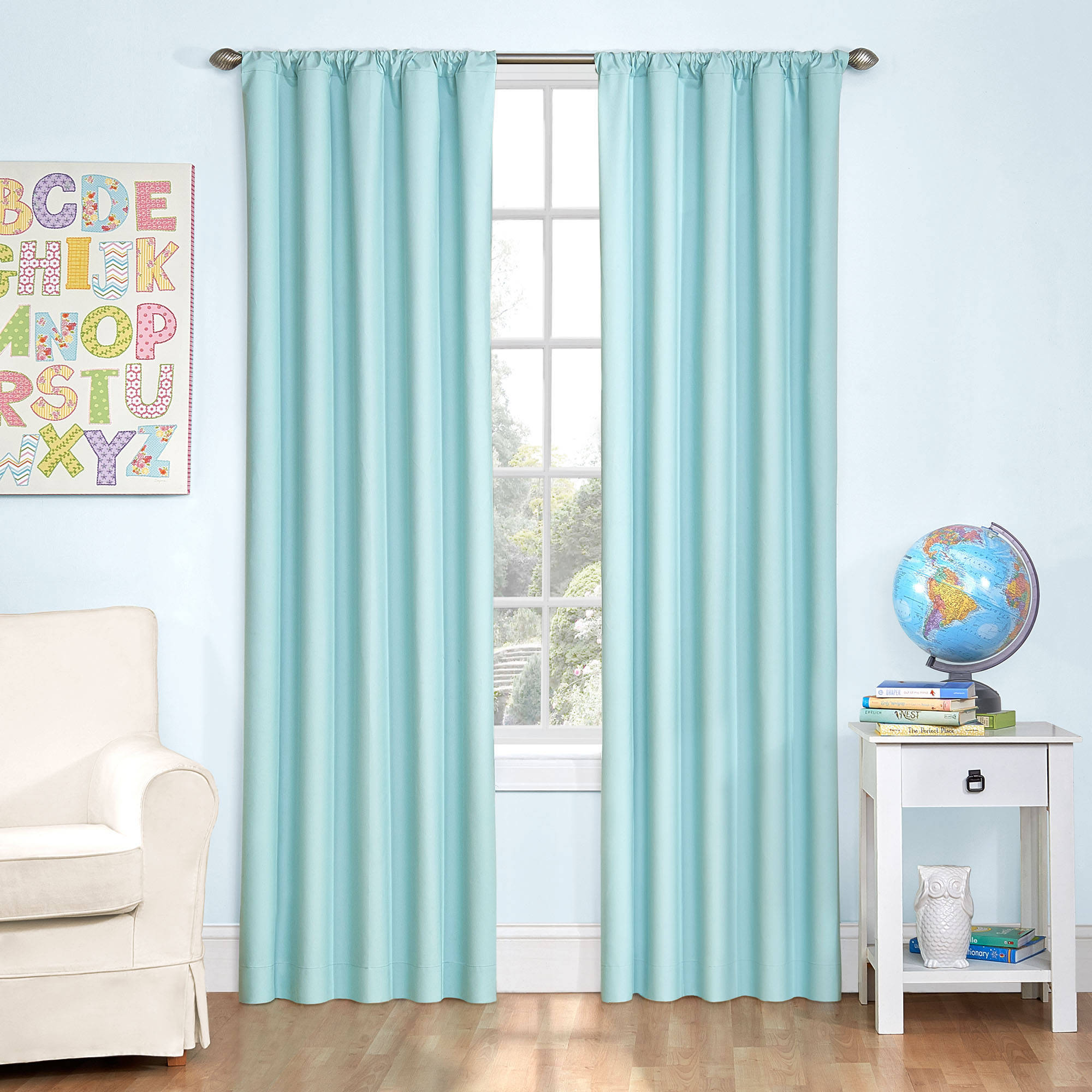 Eclipse Kid's Microfiber Window Curtain Panel