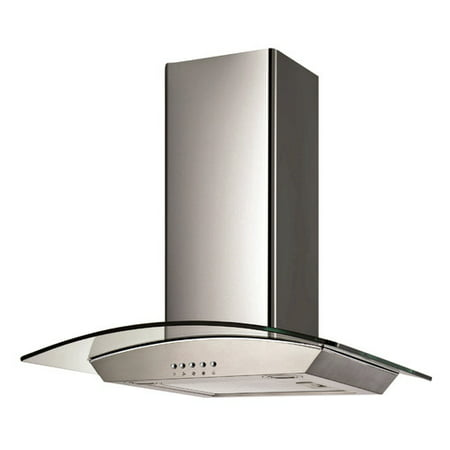 Ancona 30 Ancona Glass Canopy Series 400 Cfm Convertible Wall Mount Range Hood
