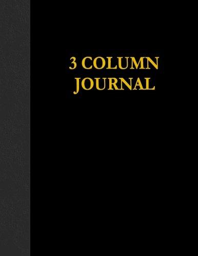 3 Column Journal: 100 Page Account Book by