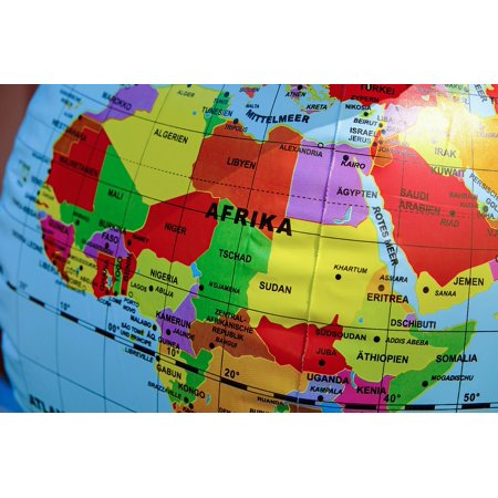 Laminated Poster Travel Globe Map of The World Country Map Poster Print 11 x 17
