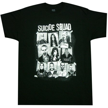Suicide Squad Mugshot Tee Shirt (Suicide Silence T Shirt Pull The Trigger)