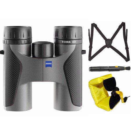 Zeiss Optical 10 x 32 Terra ED Binocular (Grey) with Harness and Floating Strap