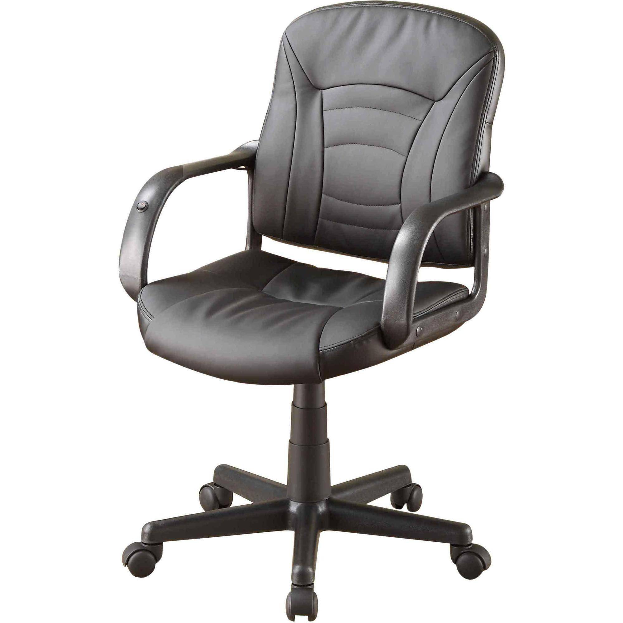 Whalen Dual-Point Action Massage Task Chair, Bonded Leather