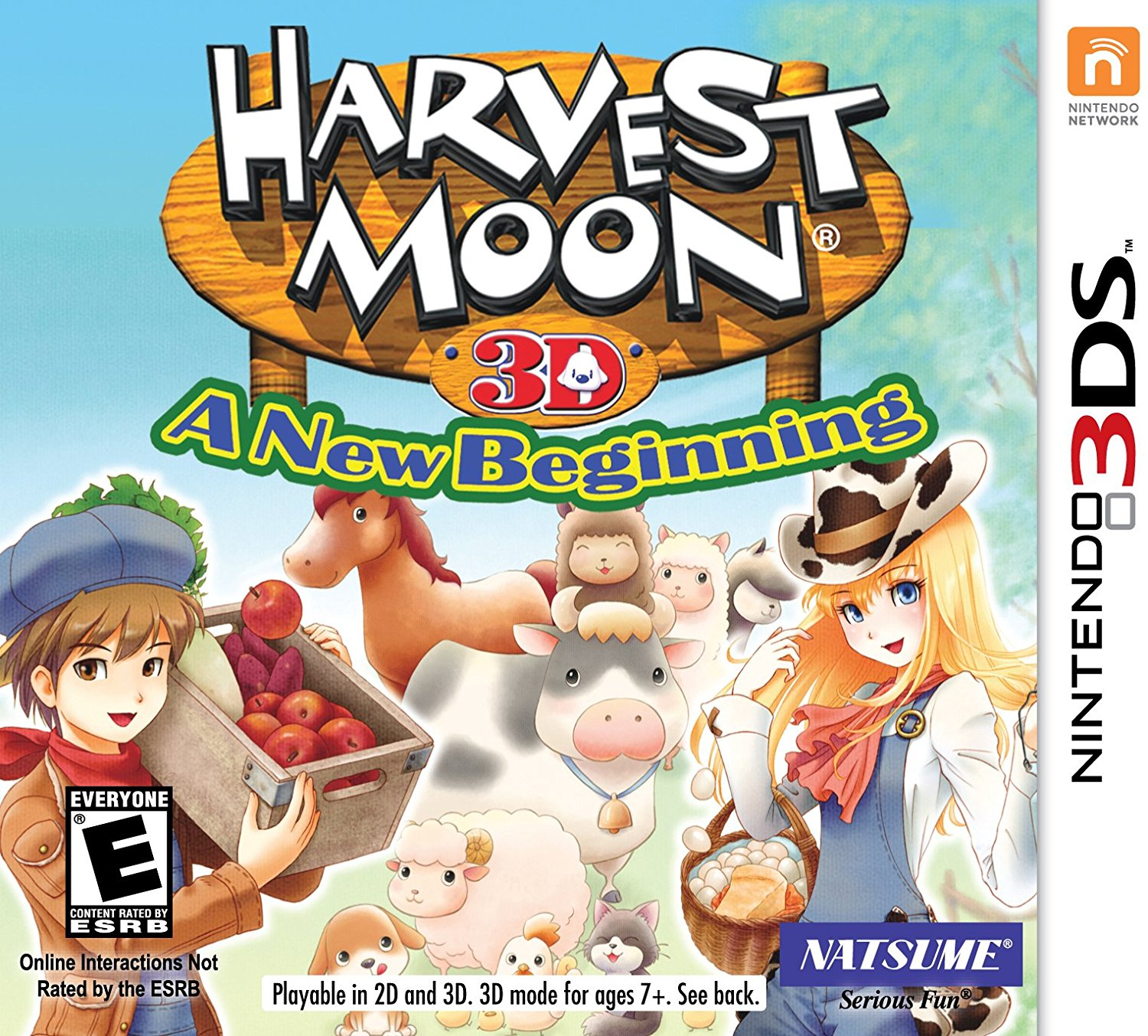 Harvest Moon 3D: A New Beginning - Nintendo 3DS, Customization is King! For the first time in the Harvest Moon series history, you can.., By Natsume