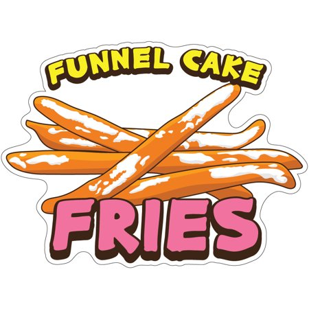 Funnel Cake Fries  Decal Concession Stand Food Truck -