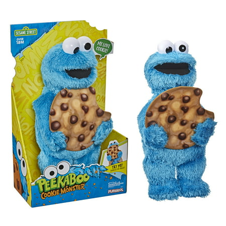 Sesame Street Peekaboo Cookie Monster, 13 Inch Plush Toy