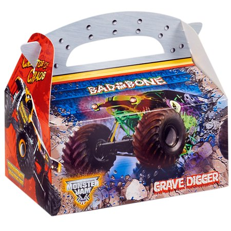Monster Jam Party Supplies 4 Pack Favor Box (Monster Jam Birthday Party Supplies)