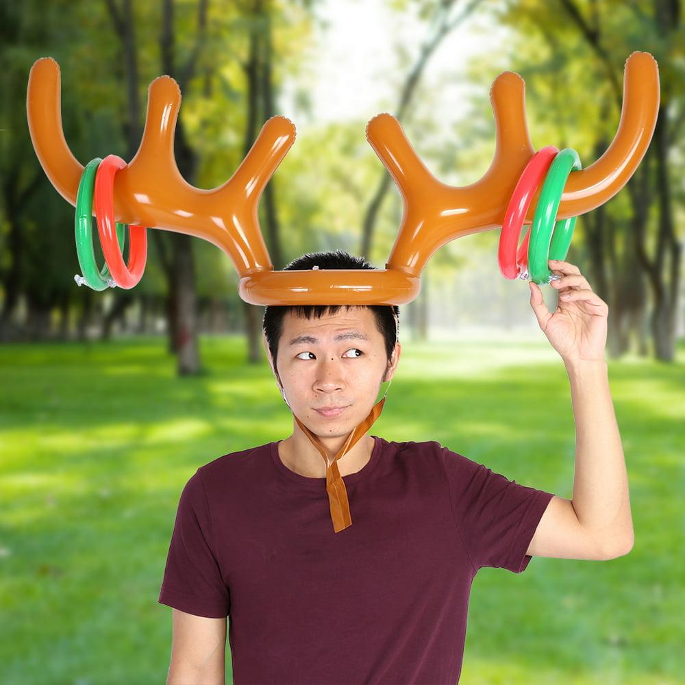 Mgaxyff Inflatable Reindeer Hat,Reindeer Antler Hat ...