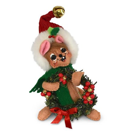 Annalee Dolls 5in 2018 Christmas Jinglebell Yuletide Mouse Plush New with Tags