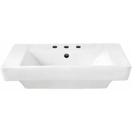 American Standard 0641.008.020 Boulevard Pedestal Lavatory Top with Three Faucet Holes (8 Centers) without Pedestal Leg, Available in Various Colors