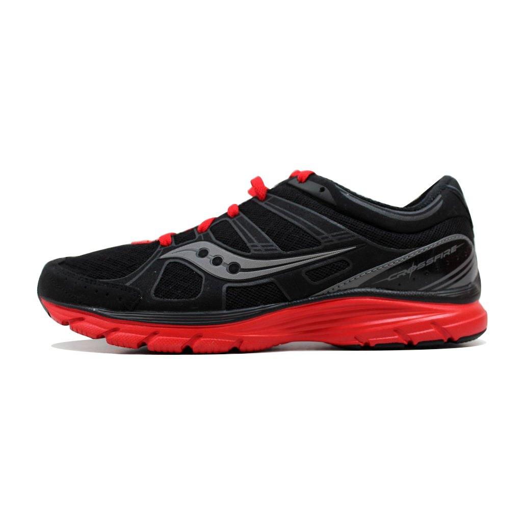 Saucony Men's Grid Crossfire Black Red 25122-1 by