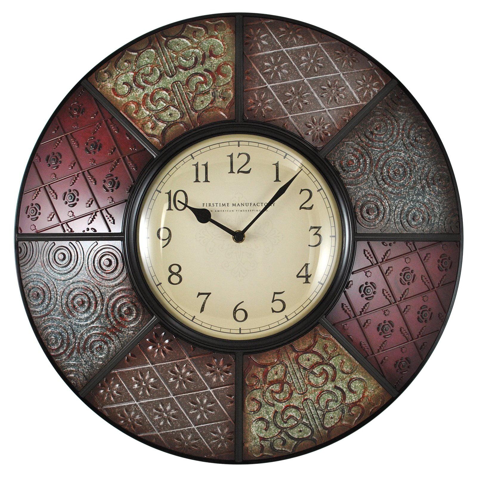 Firstime patchwork wall clock walmart amipublicfo Gallery