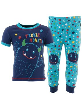 Duck Duck Goose Boys Tickle Monster Navy Cotton Pajamas
