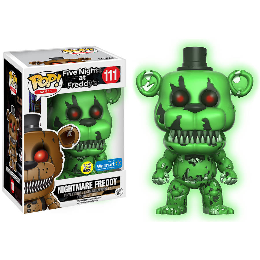 POP Games: Five Night's at Freddy's Glow in the Dark Nightmare Freddy Walmart Exclusive