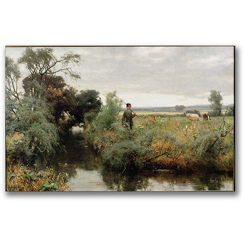 "Trademark Fine Art ""Off Fishing"" Canvas Wall Art by David Faraquharson"
