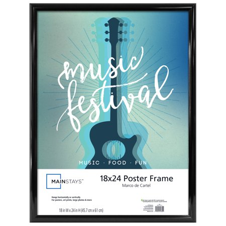 Mainstays 18x24 Trendsetter Poster and Picture Frame, Black ()