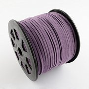 Faux Leather Suede Beading Cord, Eggplant (10 feet)