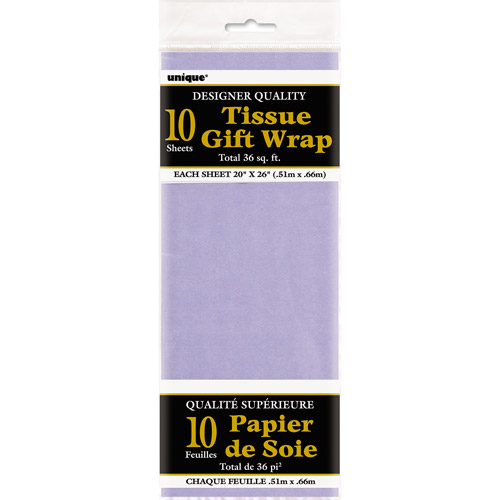 Tissue Paper Sheets, 26 x 20 in, Lavender, 10ct