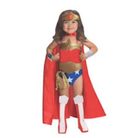 Deluxe Wonder Woman Girls Costume  Toddler 2-4 - Wonder Woman Deluxe Corset Womens Costume