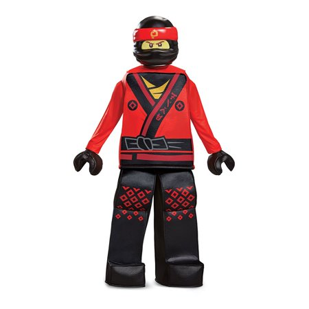 Boys' Lego Ninjago Movie Kai Prestige Costume - Lego Ninjago Halloween Costume Zane
